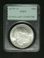 1879 S MORGAN SILVER DOLLAR RATTLER PCGS MS 65