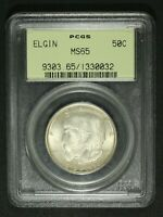 1936 ELGIN SILVER COMMEMORATIVE HALF DOLLAR PCGS MS 65   OGH