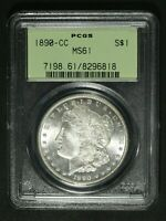 1890 CC TAIL BAR VAM 4 CARSON CITY MORGAN SILVER DOLLAR PCGS MS 61   OGH