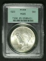 1923 PEACE SILVER DOLLAR PCGS MS 65   OGH