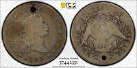 1795 SILVER PLUG B 7 BB 18 FLOWING HAIR SILVER DOLLAR PCGS VG DETAILS   HOLED