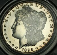 1893 PROOF MORGAN SILVER DOLLAR PCGS PR 61