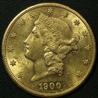 1900 S $20 TWENTY DOLLAR GOLD LIBERTY HEAD DOUBLE EAGLE
