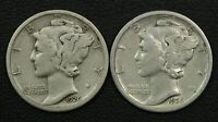 LOT OF 2 1926 S MERCURY SILVER DIMES