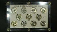 1942 1945 PDS SILVER WARTIME NICKEL COMPLETE SET   GORGEOUS WAR NICKELS