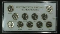 1942 1945 PDS SILVER WARTIME NICKEL COMPLETE SET   DIPPED
