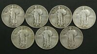 LOT OF 7 NICER STANDING LIBERTY SILVER QUARTERS