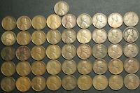 LOT OF 46 CULL 1926 S LINCOLN WHEAT CENT COPPER PENNIES