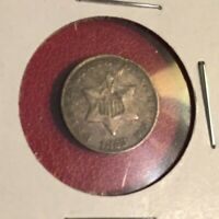 U S COIN 1853 THREE CENT SILVERS - V1