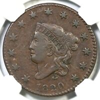 1820 N-4 R-4 NGC VF 30 MATRON OR CORONET HEAD LARGE CENT COIN 1C