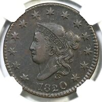 1820 N-9 R-3 NGC VF 35 MATRON OR CORONET HEAD LARGE CENT COIN 1C