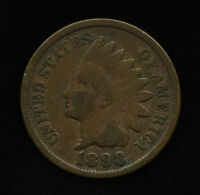 1898 1C US INDIAN HEAD ONE CENT PENNY TYPE COIN VG  GOOD SHIPS FREE