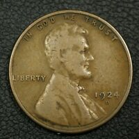 1924 D LINCOLN WHEAT CENT COPPER PENNY