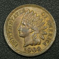 1902 INDIAN HEAD CENT COPPER PENNY