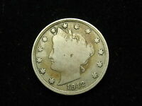 BEAUTIFUL U.S SEMI KEY DATE 1912-S LIBERTY V NICKEL COLLECTIBLE CONDITION 201V