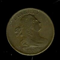 1806 DRAPED BUST HALF CENT -STEMLESS, SMALL 6  APPEARS- ABOUT UNCIRCULATED @@
