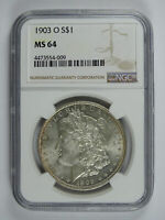 1903 O $1.00 MORGAN SILVER DOLLAR NGC MINT STATE 64 6715