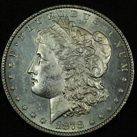 1878 8TF MORGAN SILVER DOLLAR   CLEANED