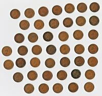 LOT OF 44 INDIAN HEAD CENTS EXACT COINS SHOWN DATES PREDOMINANTLY 1900'S VG XF