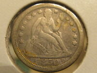 EXTRA FINE  1850-O SEATED DIME  ONLY 510,000 MADE  TDE