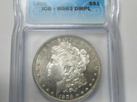 ICG MINT STATE 63 DMPL 1898-P MORGAN  TOUGH TO FIND IN DMPL GRADE  BAHE