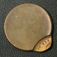 ND OFF CENTER LINCOLN WHEAT CENT COPPER PENNY