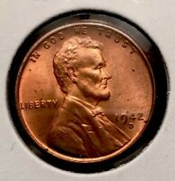 1942 D LINCOLN WHEAT PENNY RED BU