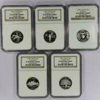 5 COIN SET: 1999 S SILVER STATE QUARTER SET NGC PF69 ULTRA C
