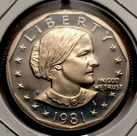 1981 S TYPE 1 PROOF SUSAN B. ANTHONY DOLLAR   CAMEO