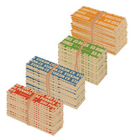 500 STANDARD FLAT COIN ROLL WRAPPERS FOR U.S. COINS -125 EACH OF PENNY, NICKEL,
