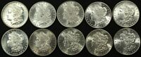 LOT OF 10 GORGEOUS BRILLIANT UNCIRCULATED MORGAN SILVER DOLLARS