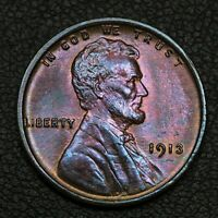 1913 LINCOLN WHEAT CENT COPPER PENNY   QUESTIONABLE COLOR
