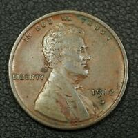 1912 D LINCOLN WHEAT CENT COPPER PENNY