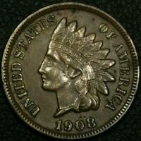 1908 S INDIAN HEAD CENT COPPER PENNY