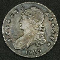 1829 CAPPED BUST SILVER HALF DOLLAR   ISSUES
