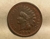1887 INDIAN HEAD CENT S 1 DOUBLED DIE OBVERSE SNOW 1 VARIETY