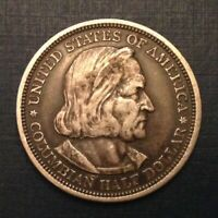 1892 COLUMBIAN EXPOSITION WORLD'S FAIR US COMMEMORATIVE HALF DOLLAR