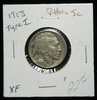 1913 5C TYPE 1 BUFFALO NICKEL. CIRCULATED. POPULAR 1ST YEAR OF ISSUE. 719050
