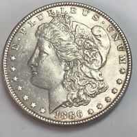 MORGAN SILVER DOLLAR 1886 P ESTATE