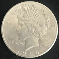 1926-P PEACE SILVER DOLLAR 90 COIN ALMOST UNCIRCULATED AU