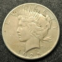 1925-P PEACE SILVER DOLLAR AU?  HONEST UNGRADED COIN WITH SHIPS FREE