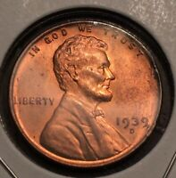 1939 D WHEAT CENT UNCIRCULATED RED BU