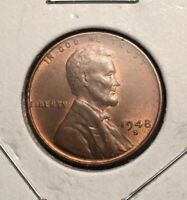 1948 S / S LINCOLN WHEAT PENNY   RPM REPUNCHED MINTMARK