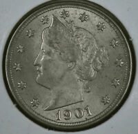 1901 5C LIBERTY HEAD NICKEL - CH BU