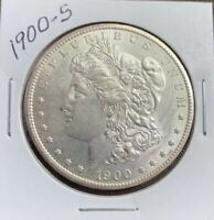 1900-S MORGAN SILVER DOLLAR, BU