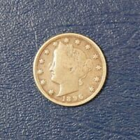 1896 V-NICKEL, FINE CONDITION AND  DETAIL Z-0132