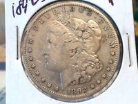 1892 S MORGAN SILVER DOLLAR KEY-DATE LOW MINTAGE ONLY 1,200,000 MINTED