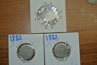 THREE SHIELD NICKELS 1882 2 ONF ONE MIGHT BE AND 1882  AL.PRETTY ROUGH
