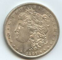 1897-S MORGAN SILVER DOLLAR AU 10720