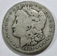 1903 S MORGAN SILVER DOLLAR CHOICE -  KEY DATE COIN 2